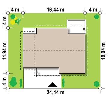 Проект традиционного одноэтажного дома с возможностью обустройства мансарды. план помещений 1