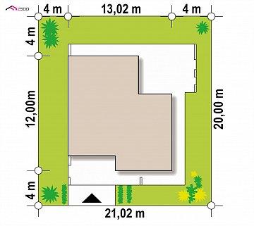 Современный и функциональный одноэтажный дом с уникальной архитектурной формой. план помещений 1