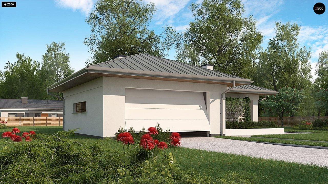 Одноэтажный дом с гаражом на две машины - фото 5