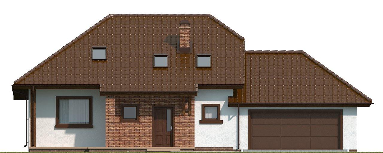 Проект комфортного дома с большим гаражом и дополнительной спальней на первом этаже. 14