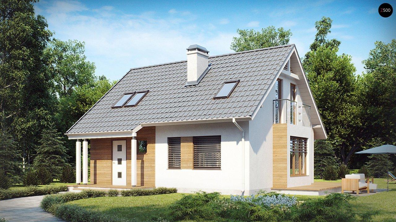 Небольшой дом с дополнительной комнатой на первом этаже, большим хозяйственным помещением и эркером в столовой. 2