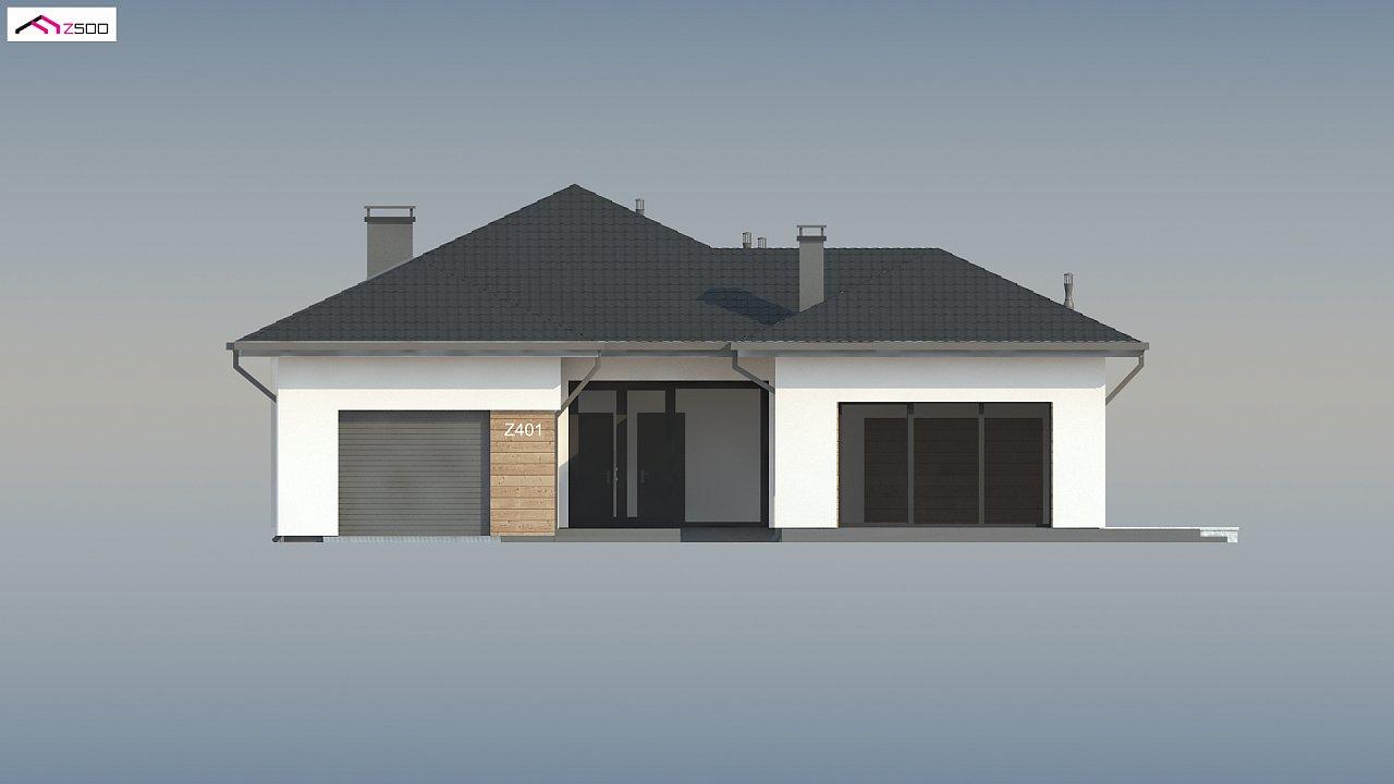 Проект комфортного одноэтажного дома в европейском стиле. 10