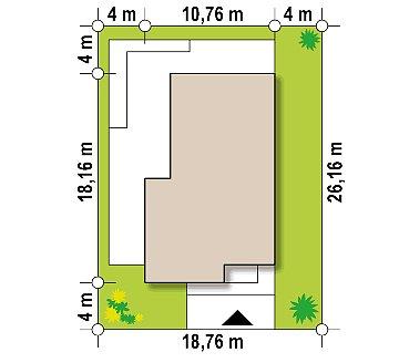 Одноэтажный дом в современном стиле, с большими застекленными окнами план помещений 1