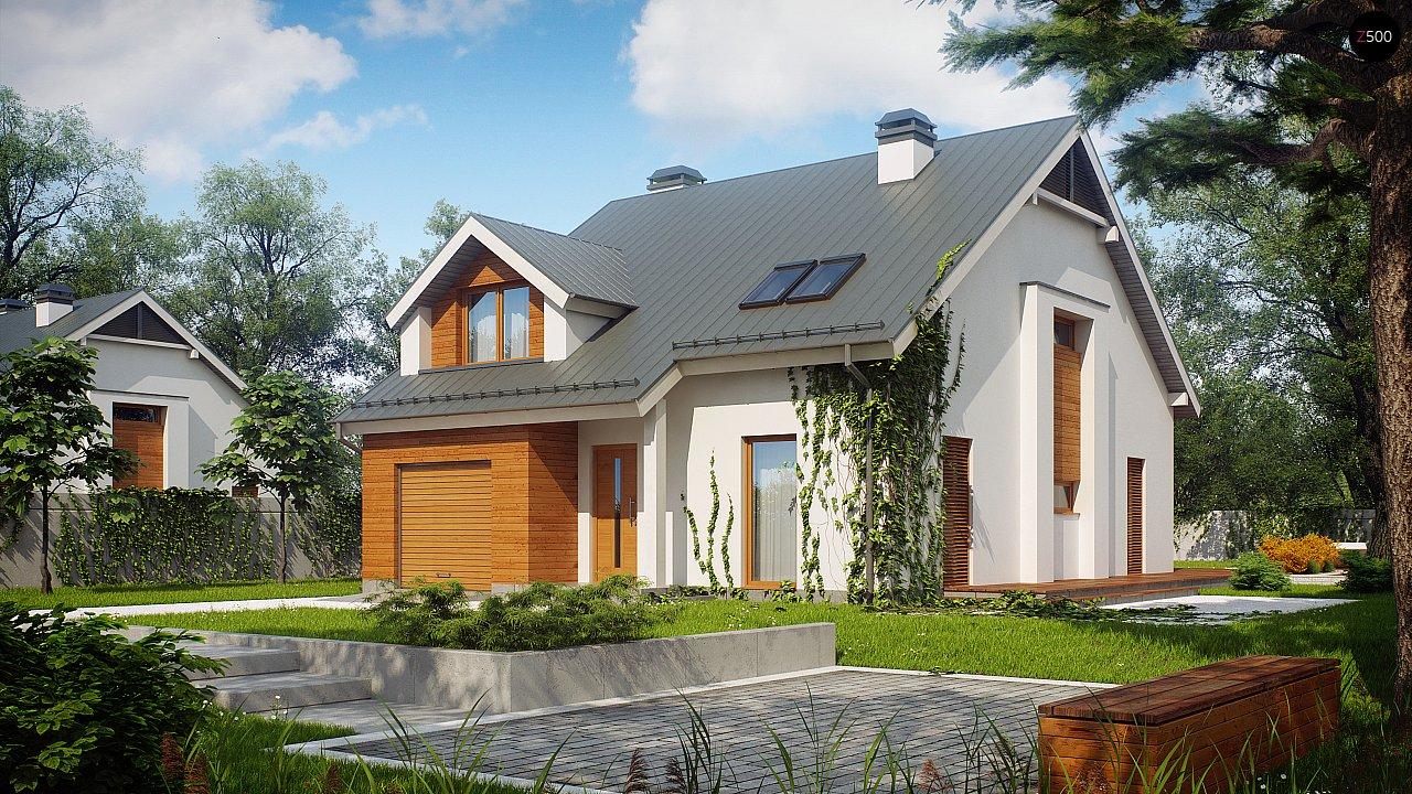 Дом традиционной формы с элегантными современными элементами в архитектуре. - фото 2