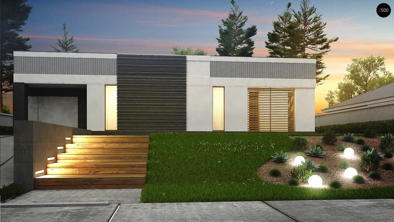 Проект дома в современном стиле с закрытой террасой - фото 3