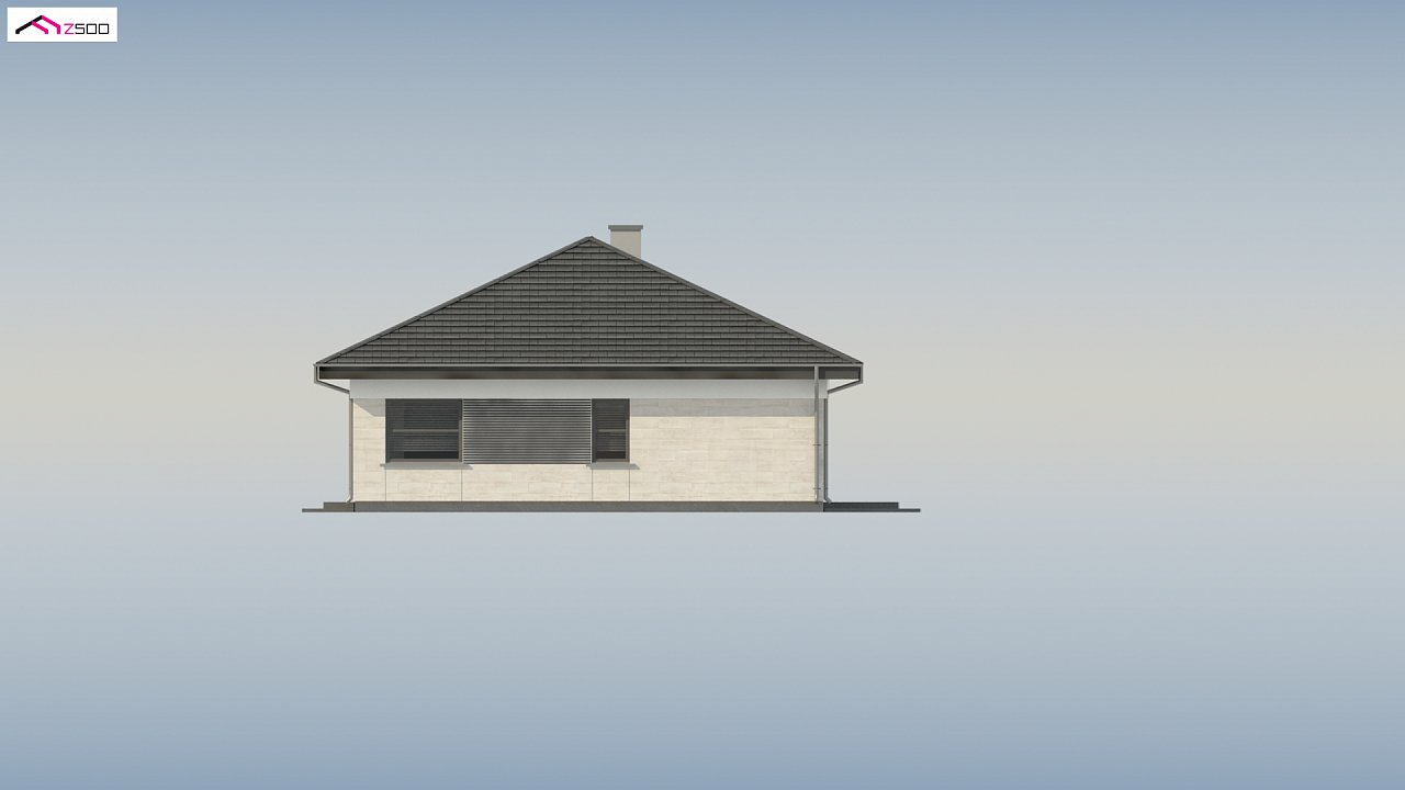 Проект компактного и функционального одноэтажного дома 20