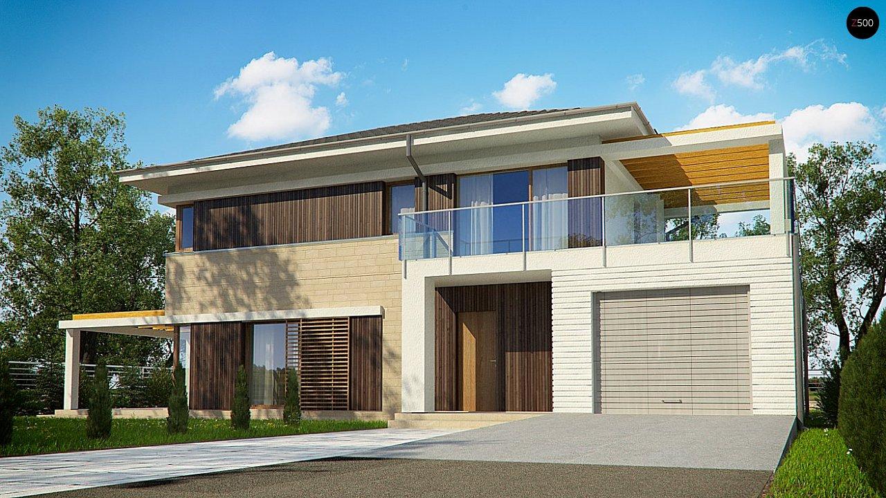 Проект функциональный двухэтажный дом с 4 спальнями и подвалом. 2