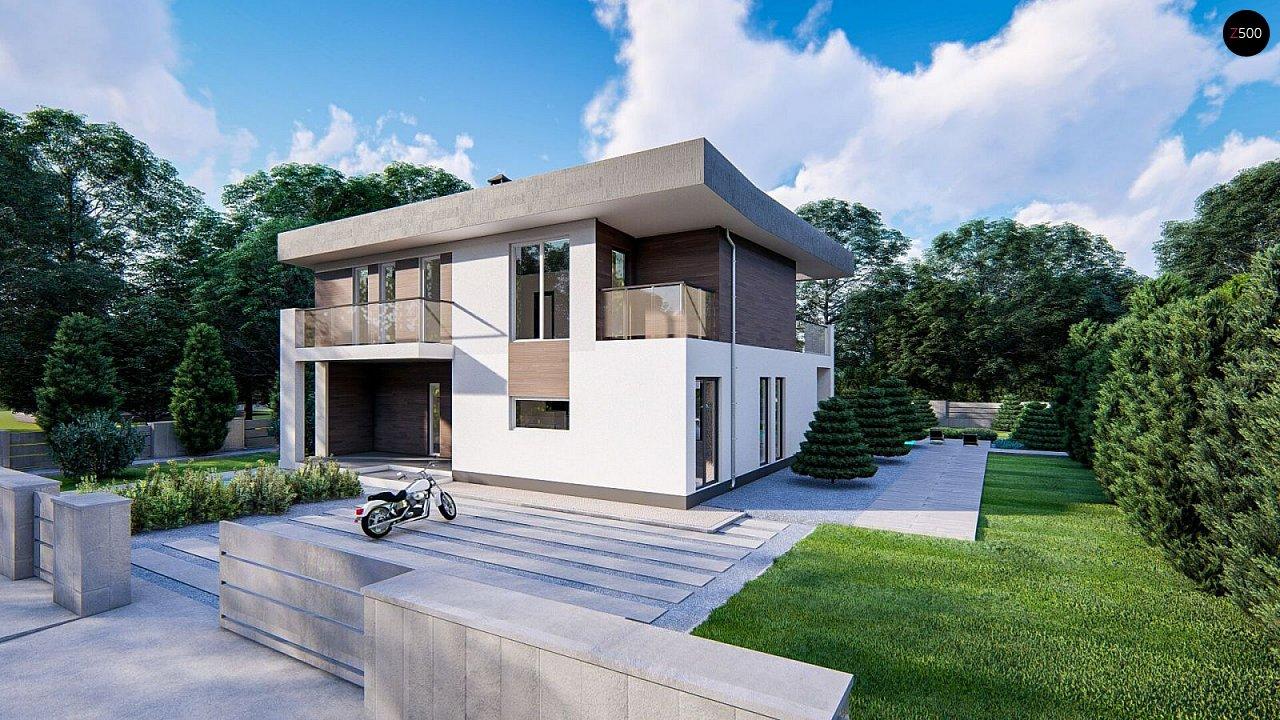 Современный двухэтажный дом с плоской кровлей - фото 3