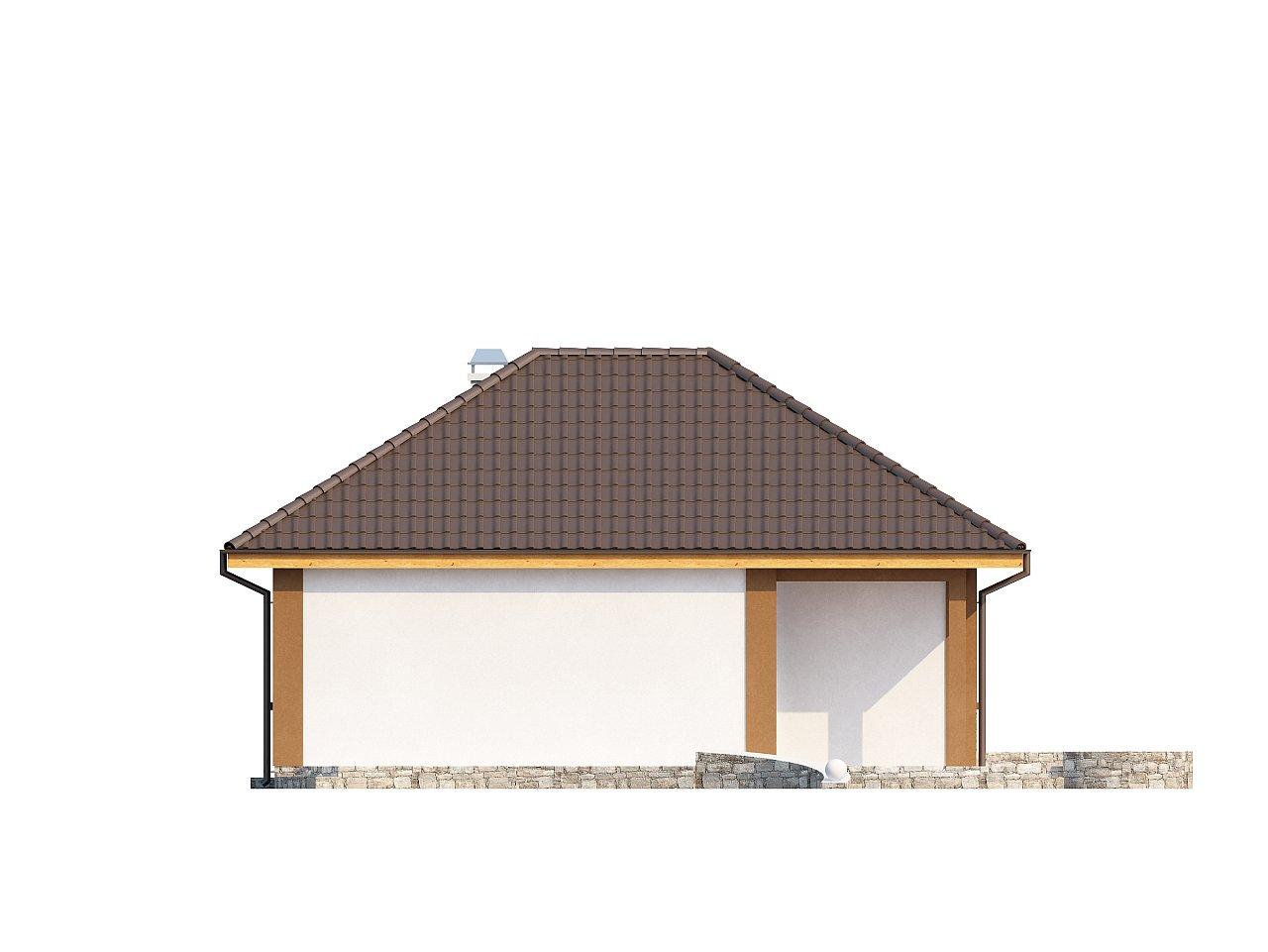 Небольшой комфортный одноэтажный дом в форме буквы «L» с тремя спальнями. - фото 5