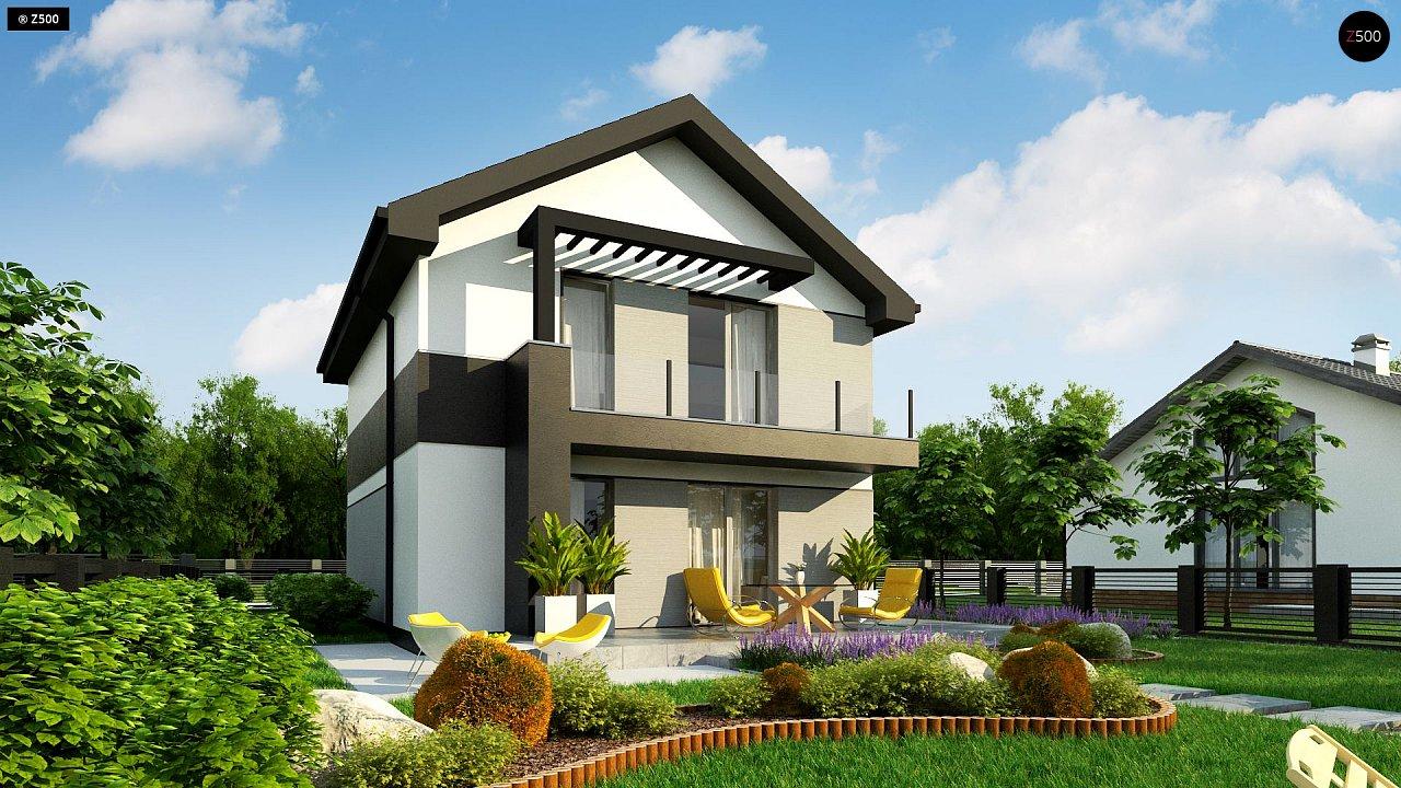 Компактный двухэтажный дом для узких участков. - фото 5