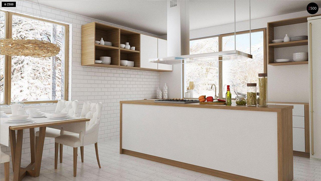 Проект традиционного одноэтажного дома с возможностью обустройства мансарды. 6