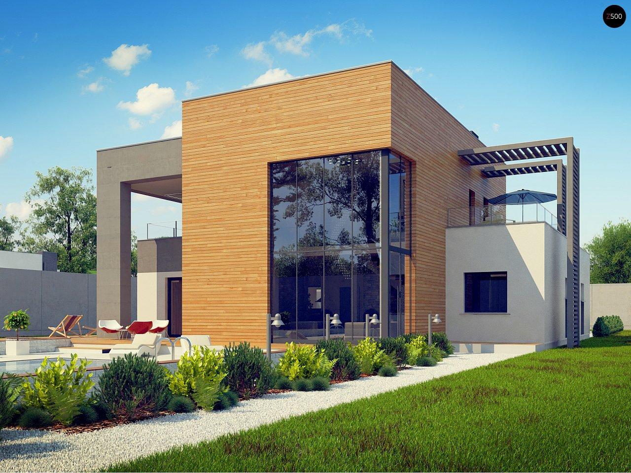Современный двухэтажный дом с большой площадью остекления. - фото 15
