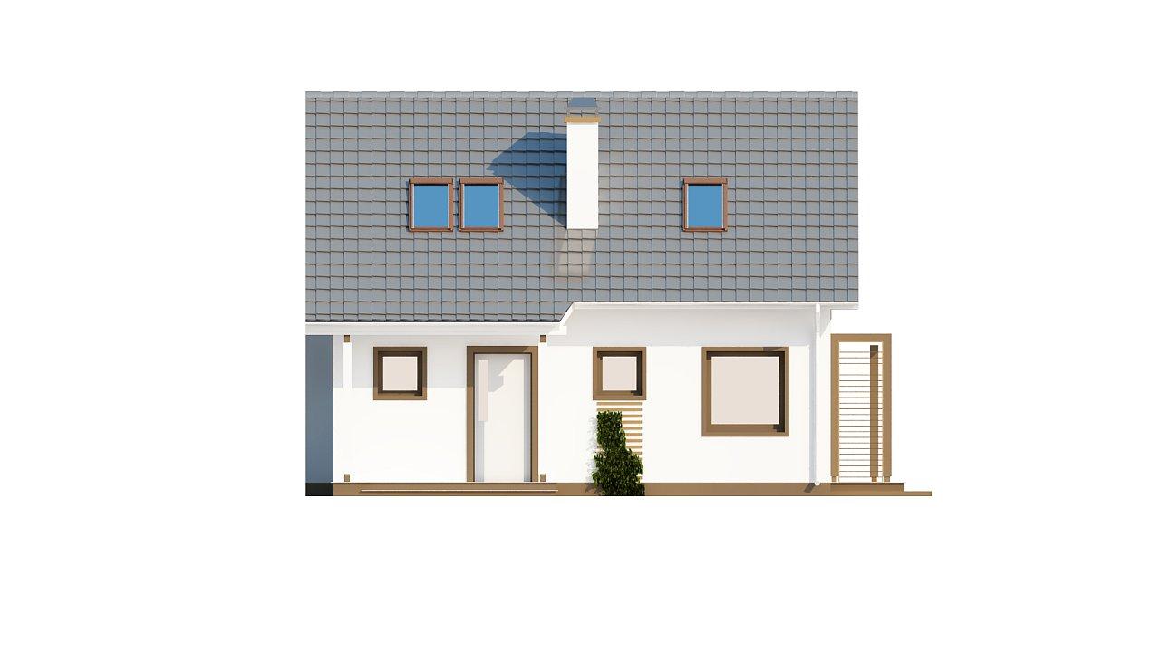 Проект каркасного мансардного дома в классическом дизайне 12