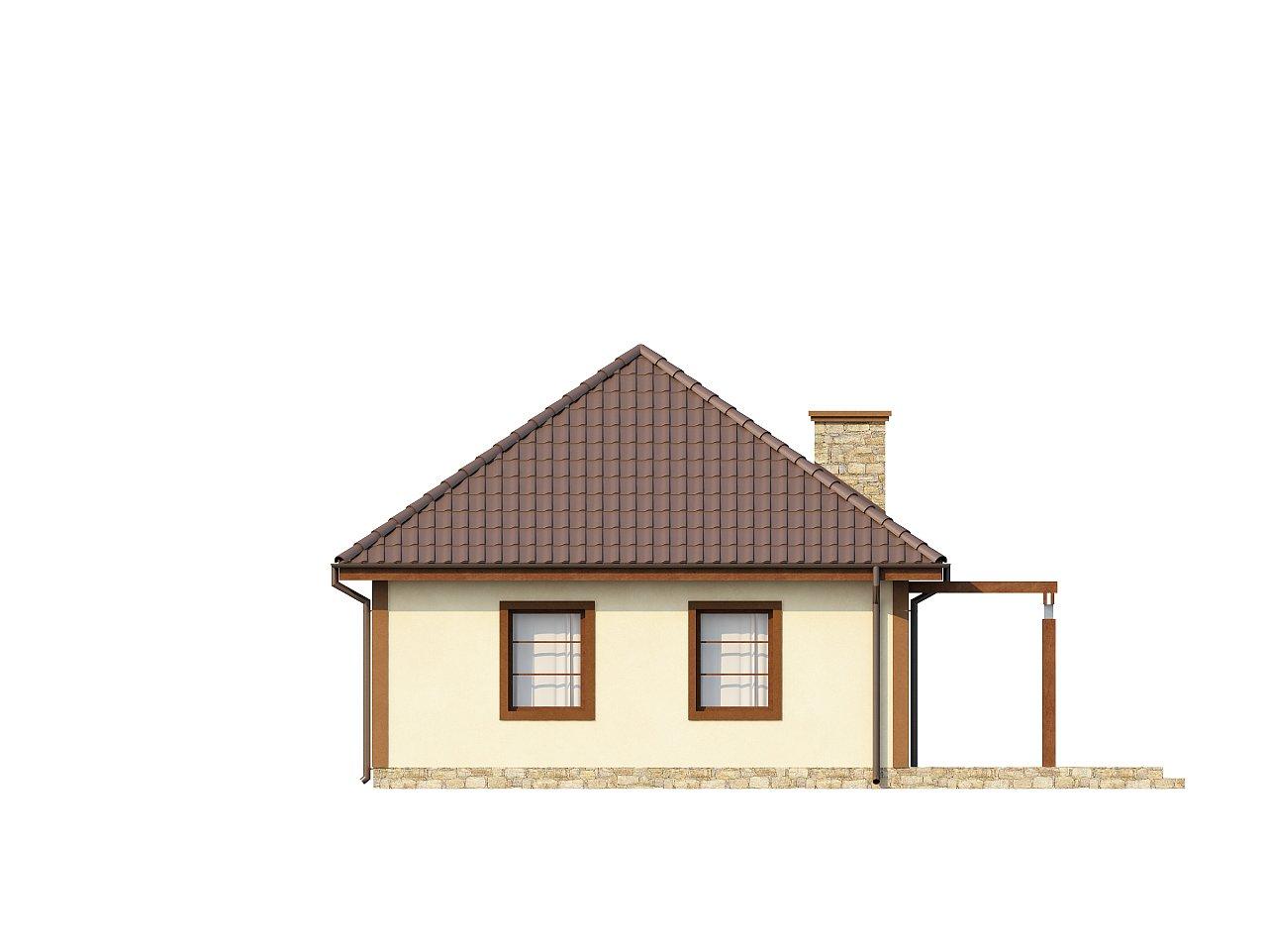 Проект маленького уютного дома с функциональной планировкой. Оснащен всем необходимым для постоянного проживания. - фото 5