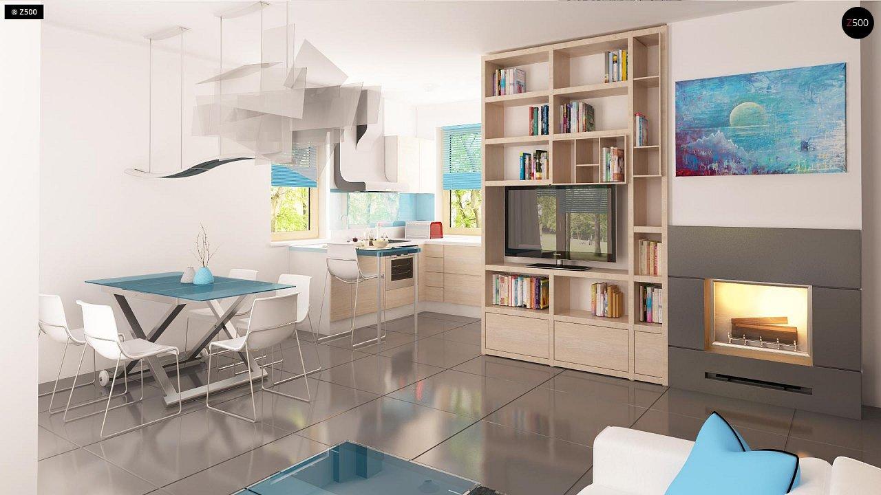 Проект каркасного мансардного дома в классическом дизайне 6