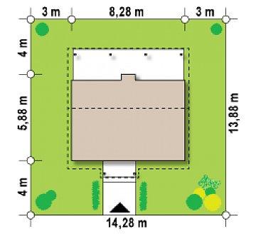 Маленький одноэтажный дом, оснащенный всем необходимым для круглогодичного проживания. план помещений 1