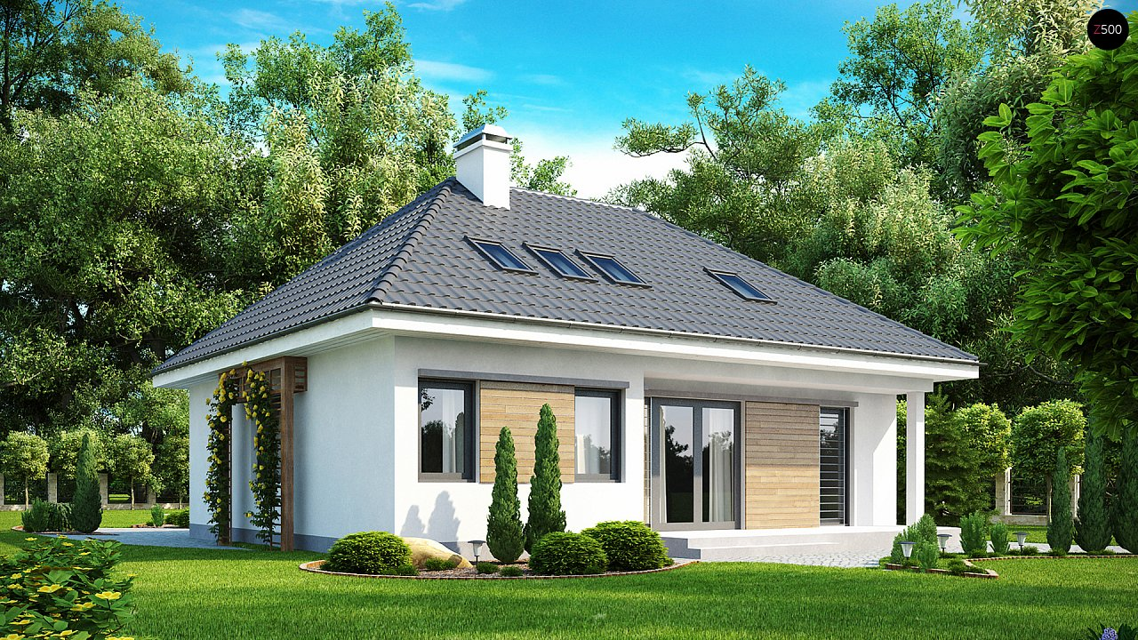 Удобный и красивый дом традиционного характера с двумя дополнительными спальнями на первом этаже. 2