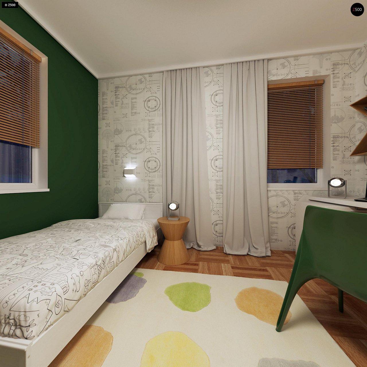 Компактный одноэтажный дом простой формы с возможностью обустройства чердачного помещения. 17