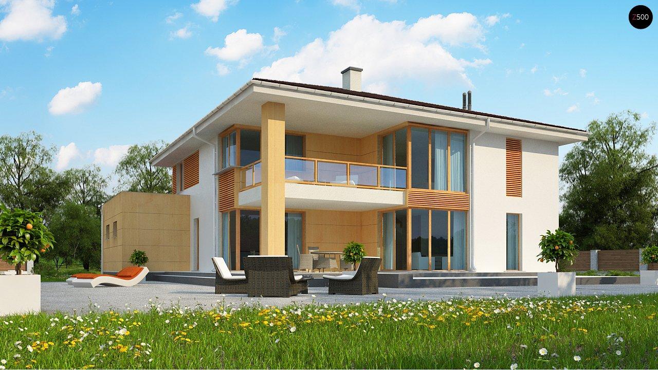 Проект комфортабельного двухэтажного коттеджа современного дизайна 3