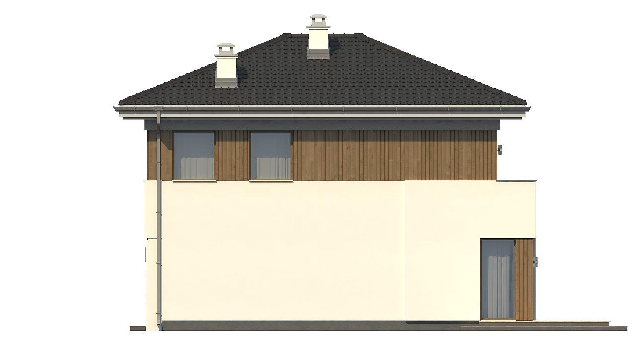 Проект компактного двухэтажного дома строгого современного стиля. 23