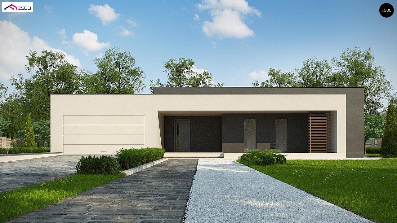 Современный дом с 4 спальнями, гаражом на 2 машины и большими окнами 2