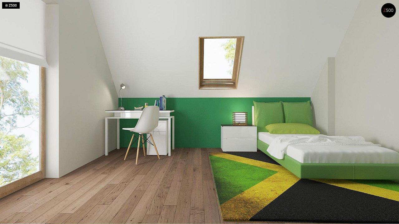 Небольшой стильный и практичный дом с мансардными окнами. - фото 10