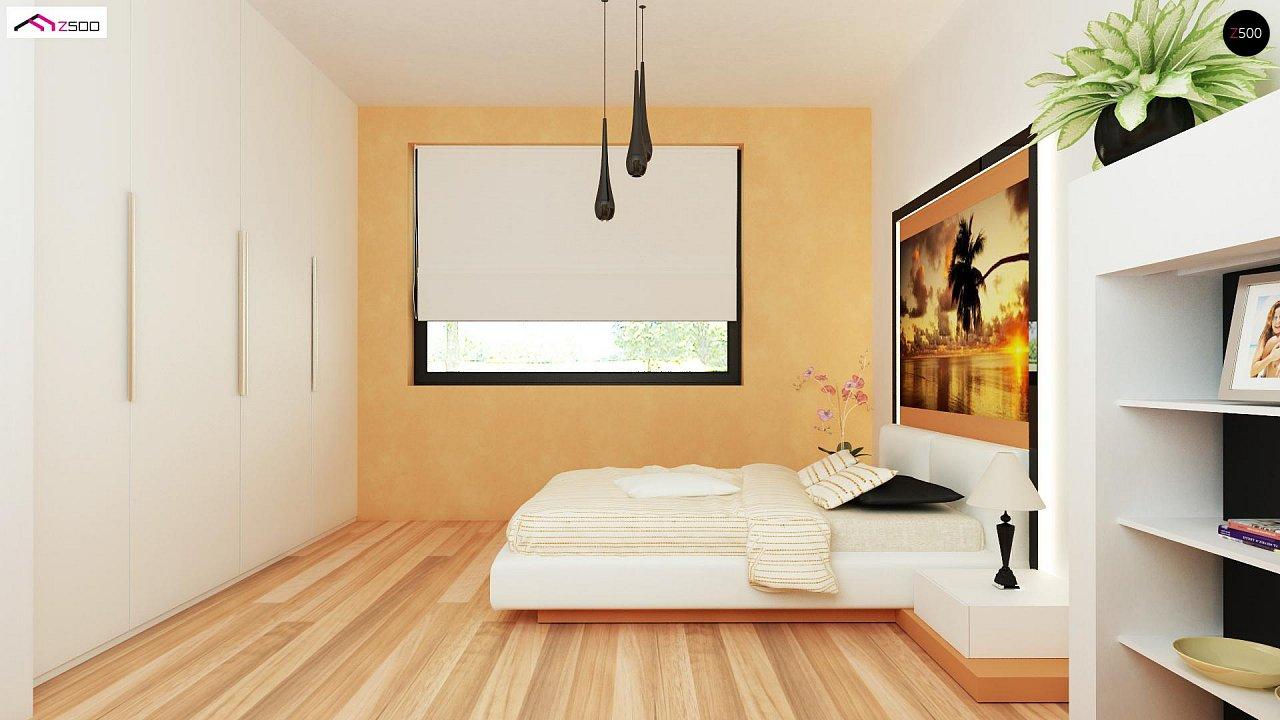 Проект выгодного одноэтажного дома с возможностью адаптации чердачного помещения. 13