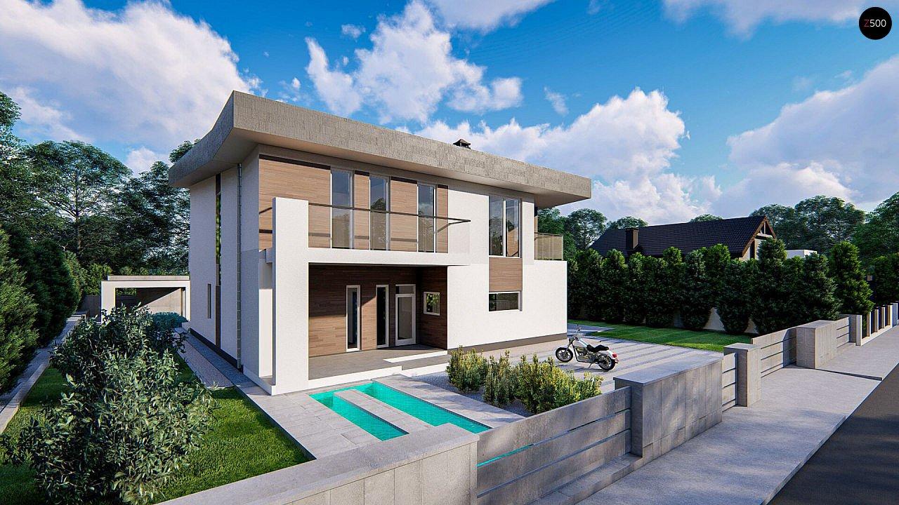 Современный двухэтажный дом с плоской кровлей - фото 5