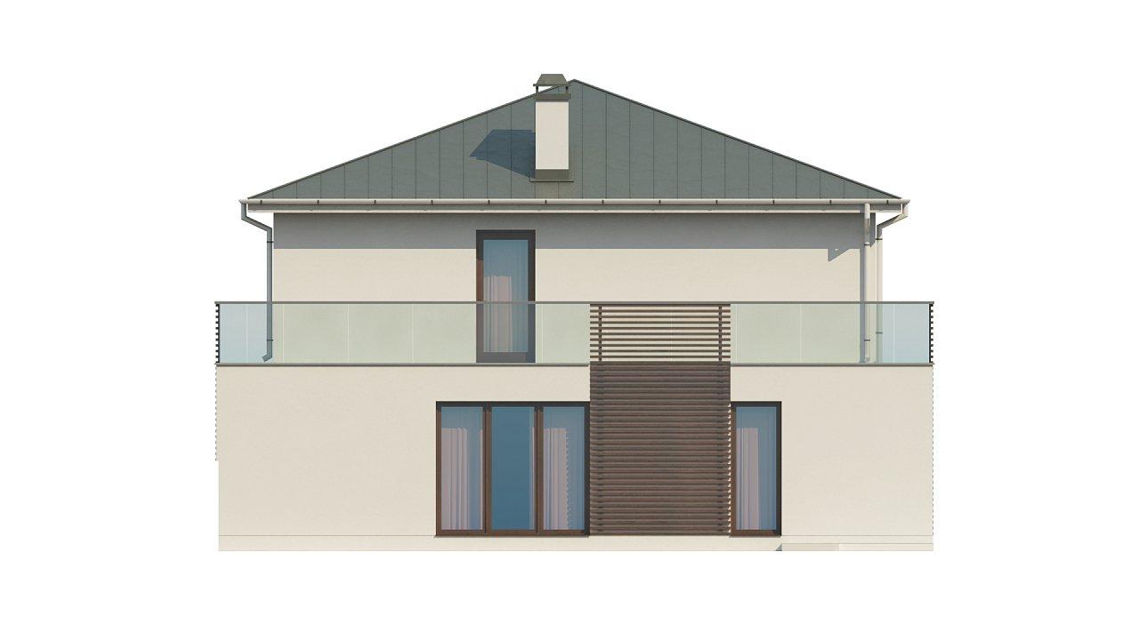 Просторный и комфортный двухэтажный дом с большими окнами. 9