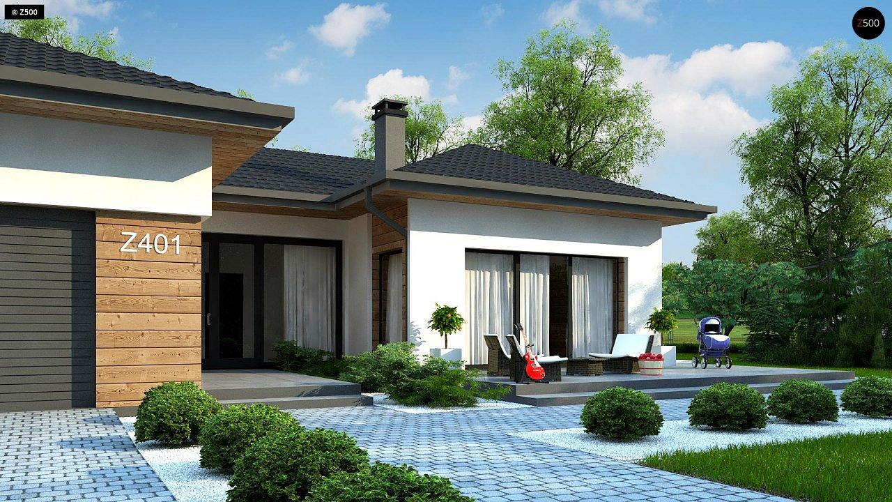 Проект комфортного одноэтажного дома в европейском стиле. 5