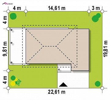 Увеличенная версия проекта современного дома Zx63 B план помещений 1