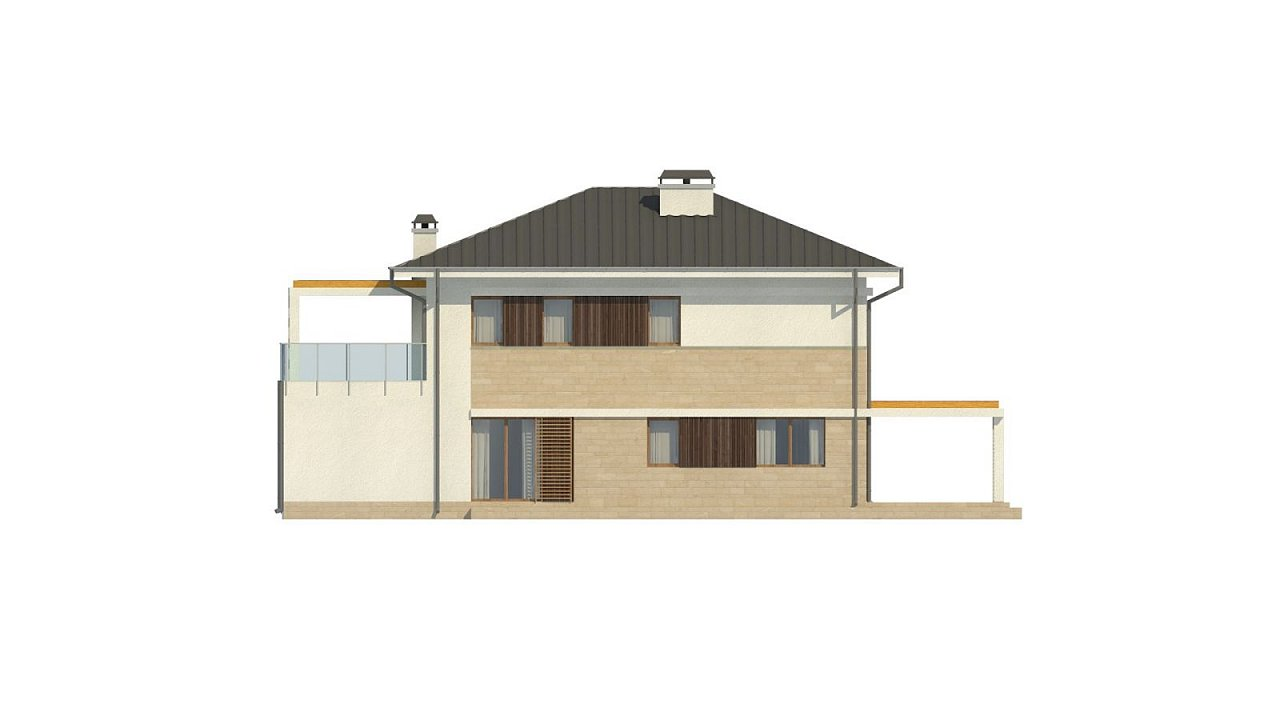 Проект двухэтажного дома Zx63 B + адаптированный под строительство в сейсмических районах 34