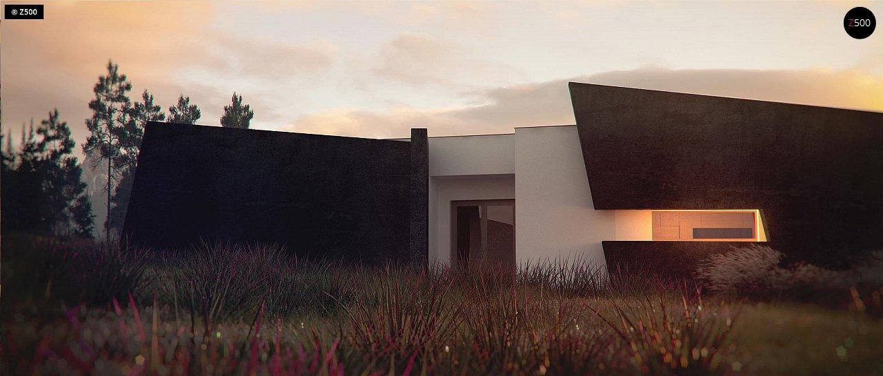 Современный одноэтажный дом в стиле минимализм 3