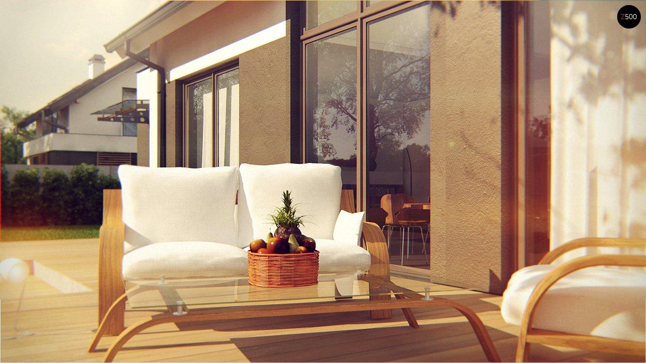 Комфортный дом с оригинальным остеклением в гостиной и вторым светом. - фото 5