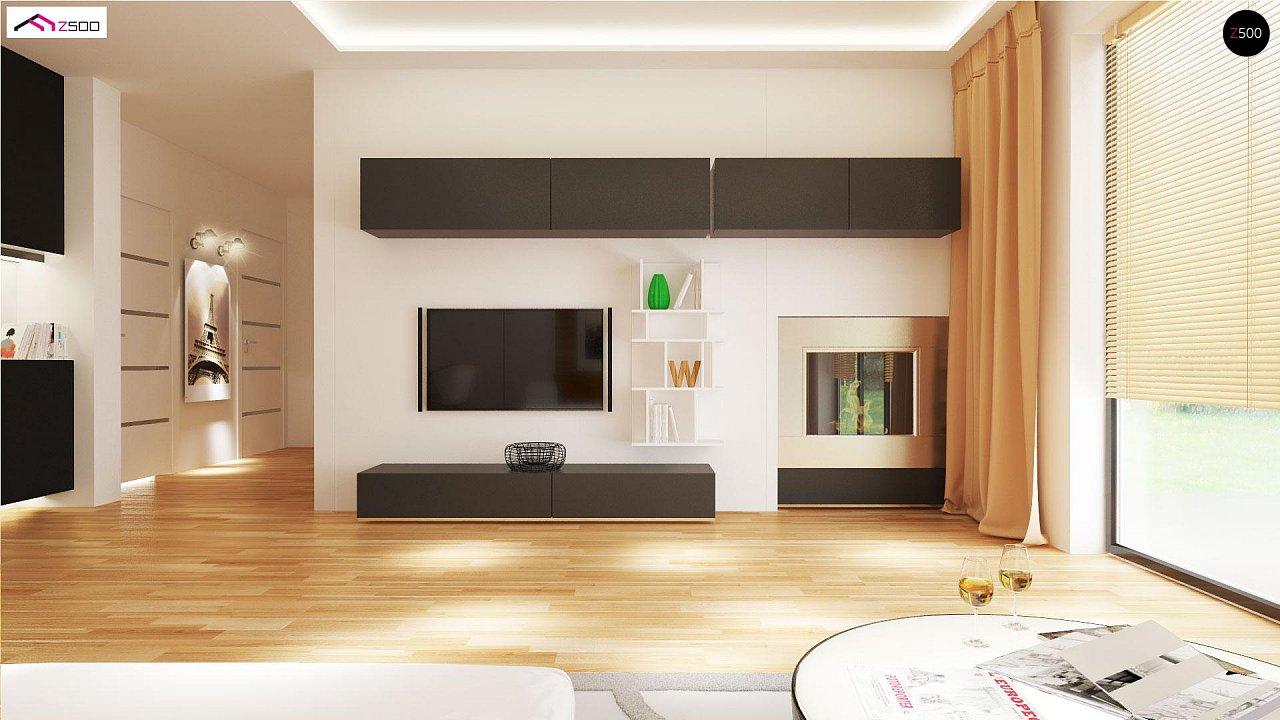 Проект выгодного одноэтажного дома с возможностью адаптации чердачного помещения. 5
