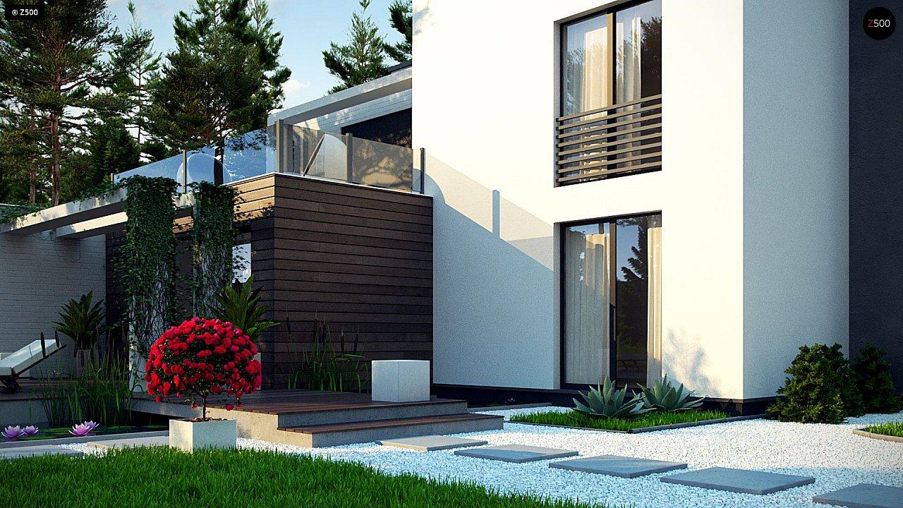 Двухэтажный дом в стиле минимализм - вариант проекта ZR 17 6
