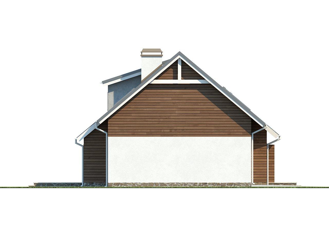Проект функционального дома с современным мансардным окном, с дополнительной спальней на первом этаже. 5
