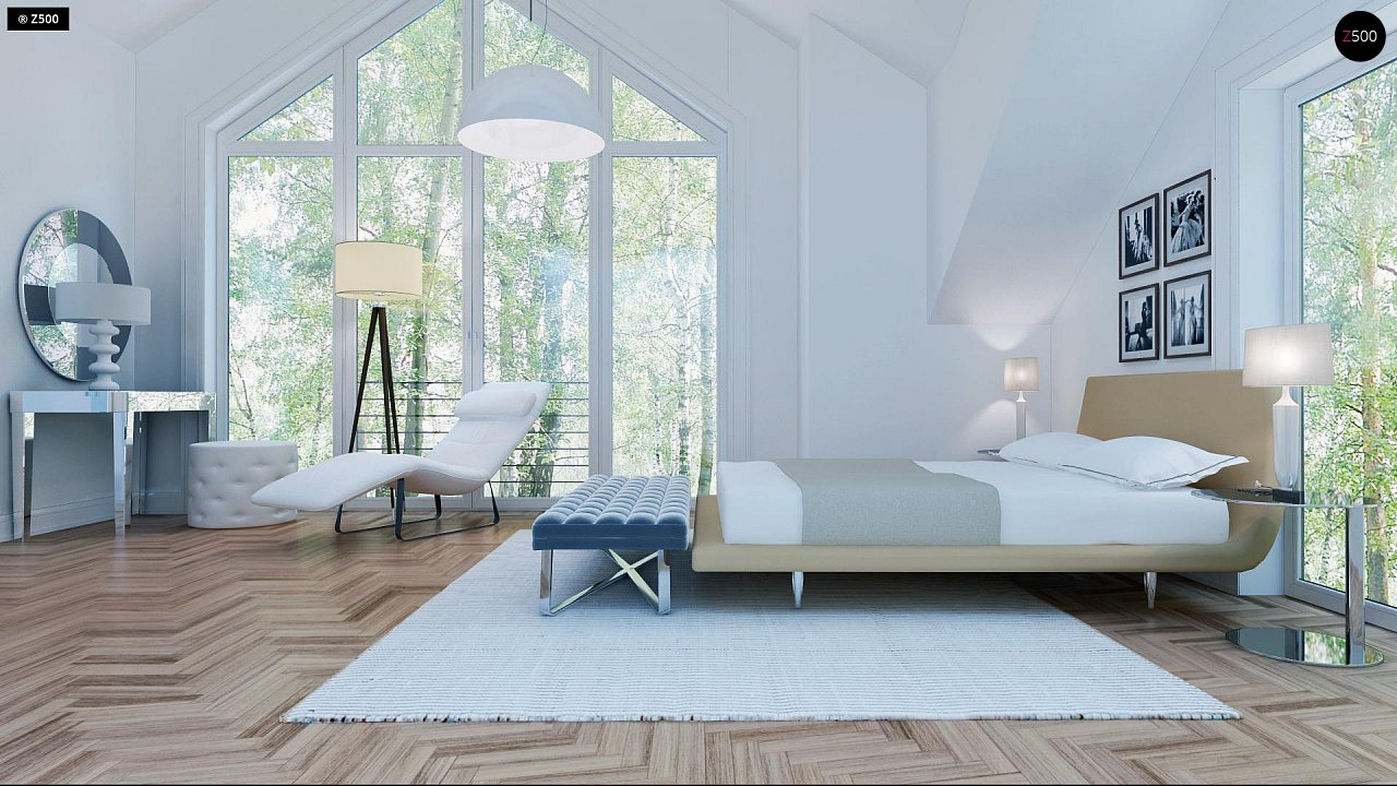 Удобный и красивый дом с красивым окном во фронтоне. 14
