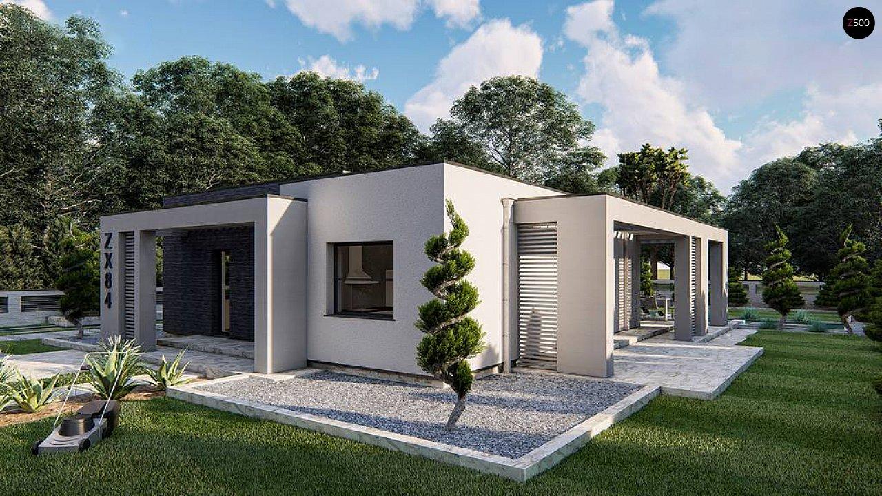Одноэтажный современный дом с плоской крышей 4