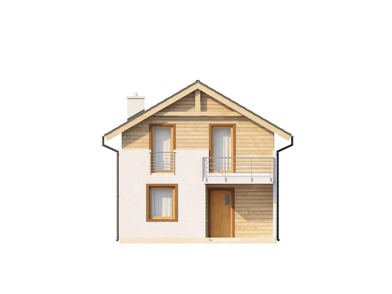 Простой и удобный дом для узкого участка с высокой аттиковой стеной. - фото 12