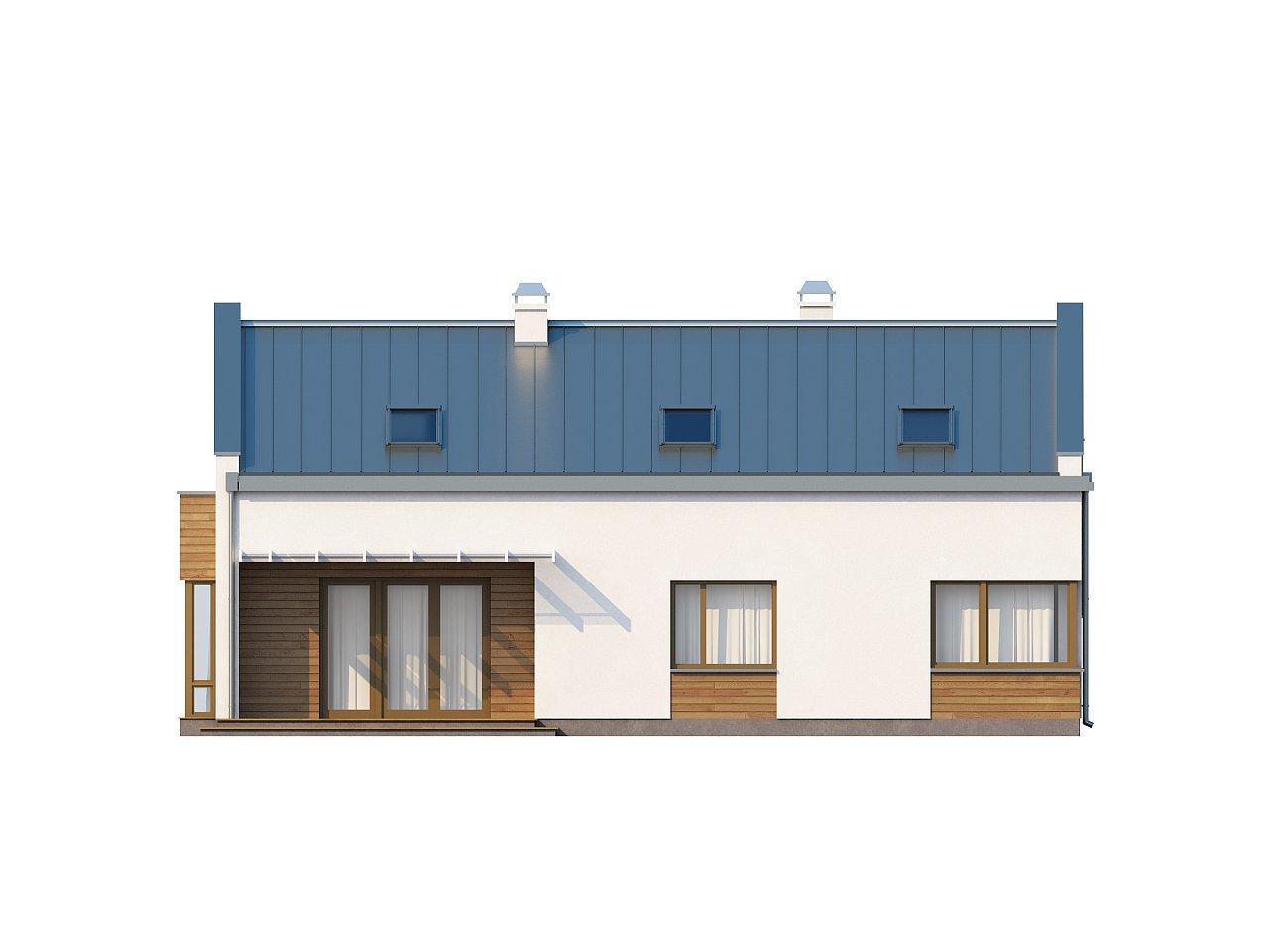 Элегантный просторный дом современного дизайна с пятью спальнями и террасой на втором этаже. - фото 4