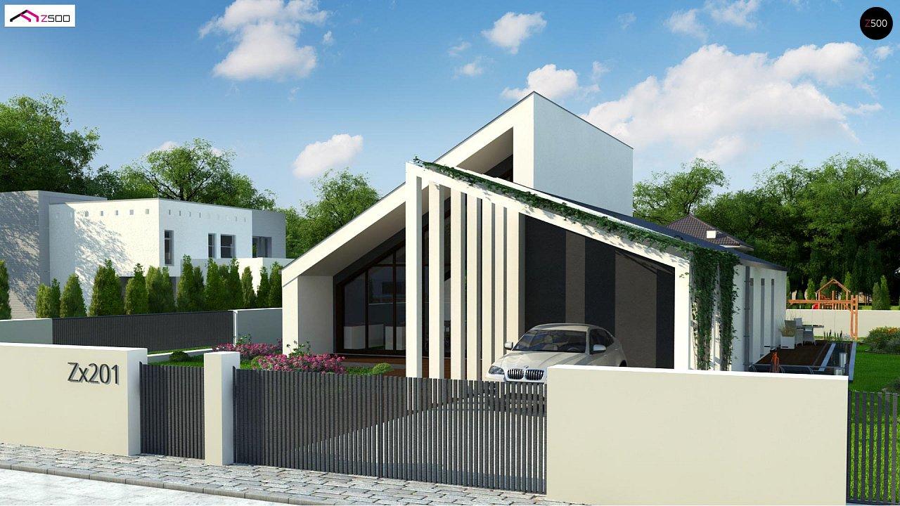 Современный дом с просторной гостиной и большим остеклением - фото 2