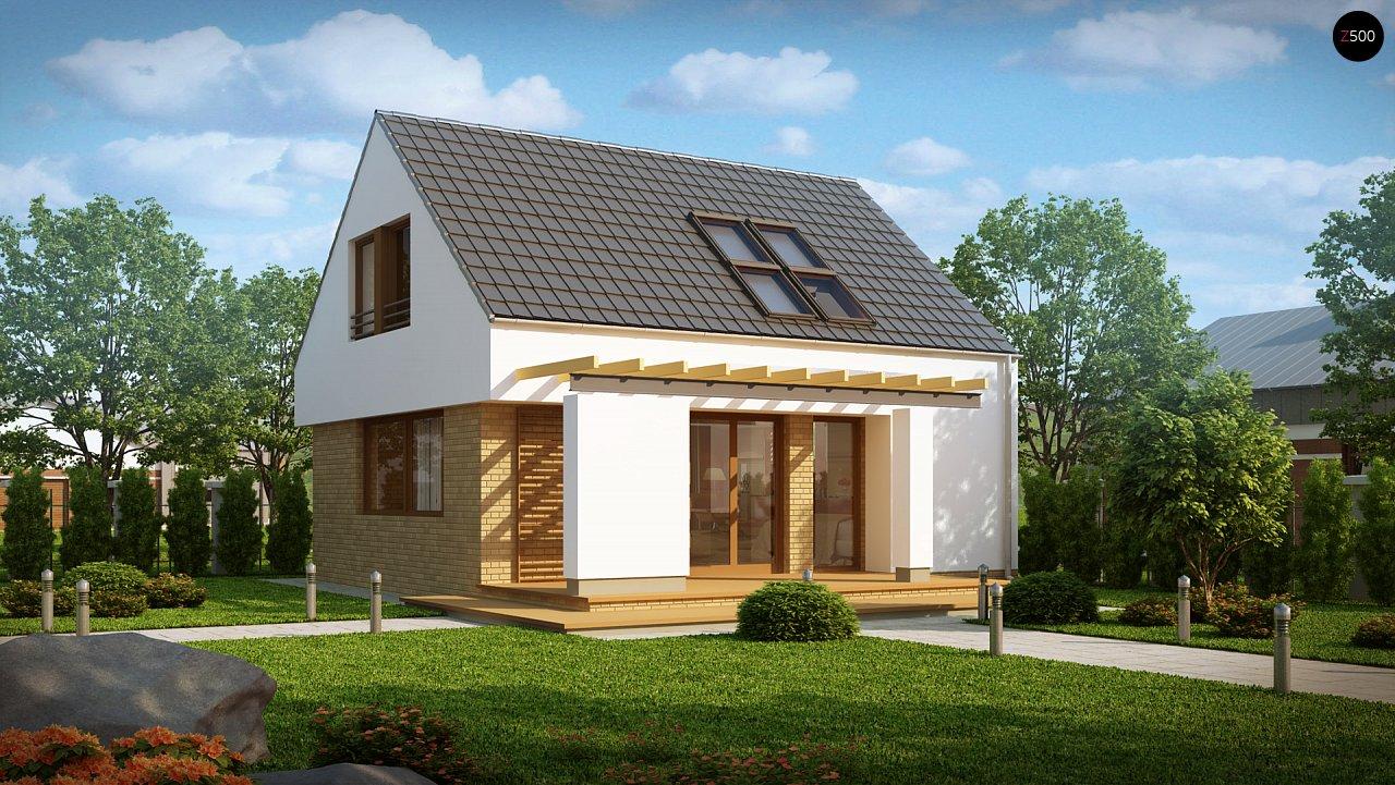 Компактный стильный дом простой формы с большой площадью остекления в дневной зоне. - фото 2