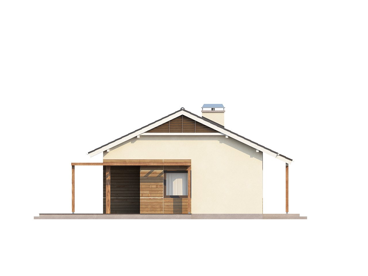 Проект компактного одноэтажного дома, экономичного как в строительстве, так и в эксплуатации. 16