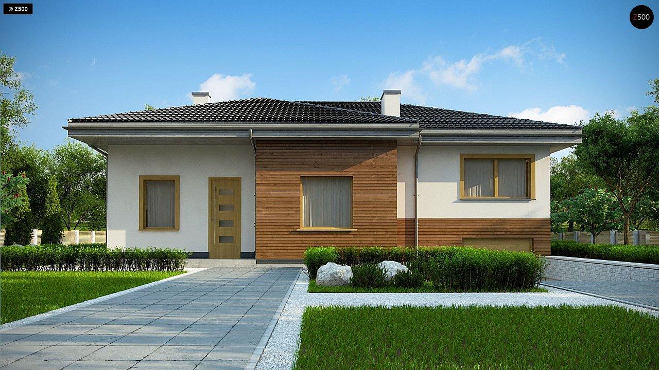 Красивый и комфортный однэтажный дом с цоколем 3