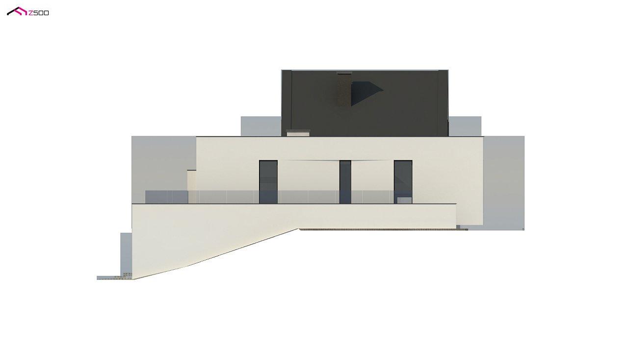 Проект современного коттеджа с цоколем и мансардой 10