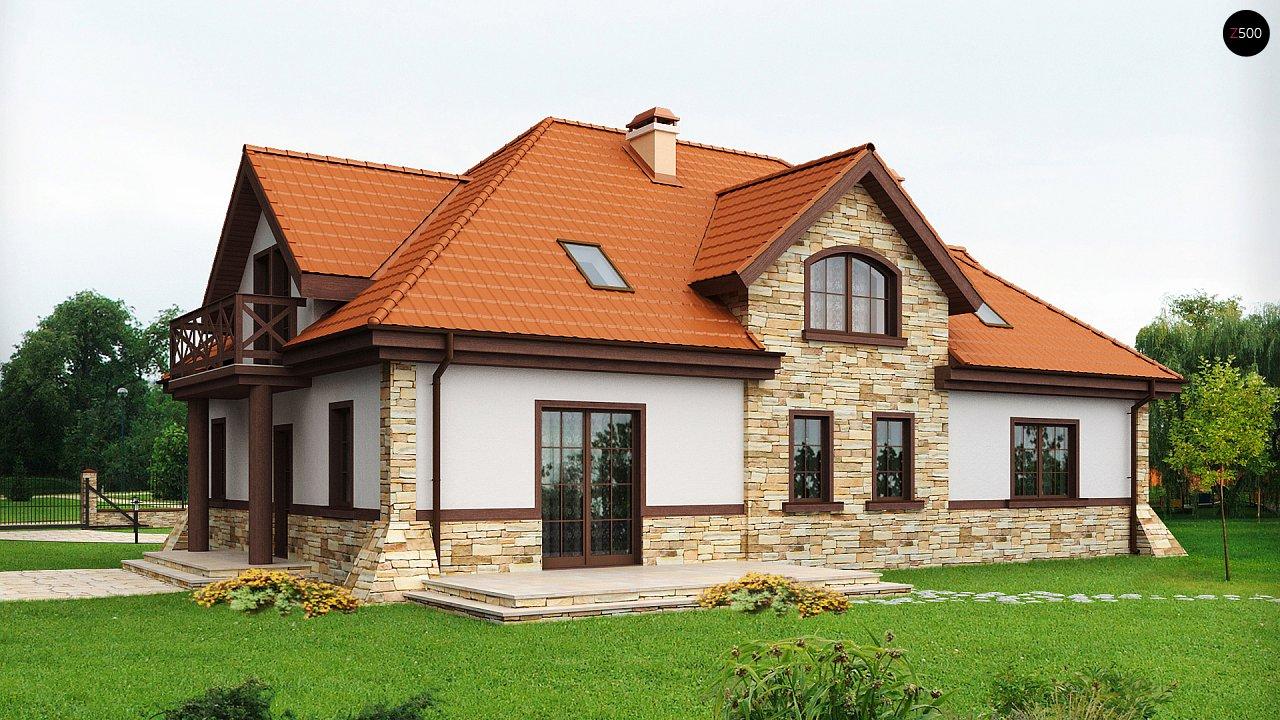 Проект двухсемейного дома в стиле дворянской усадьбы. - фото 2