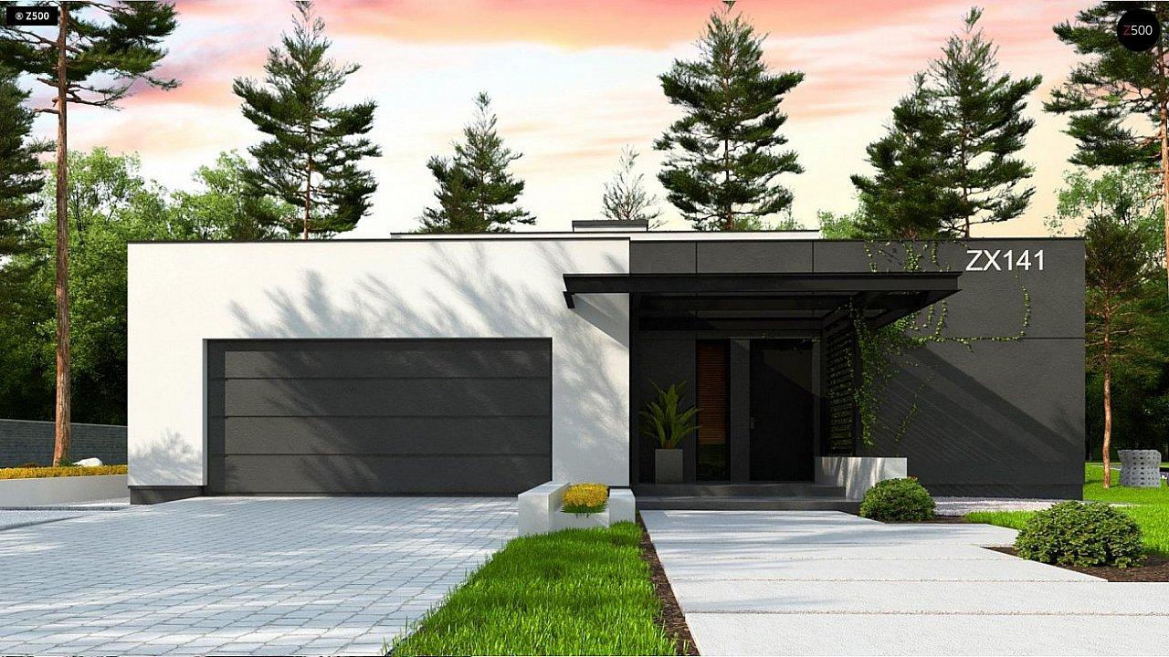 Одноэтажный дом с плоской кровлей адаптированный под строительство в сейсмических районах 3