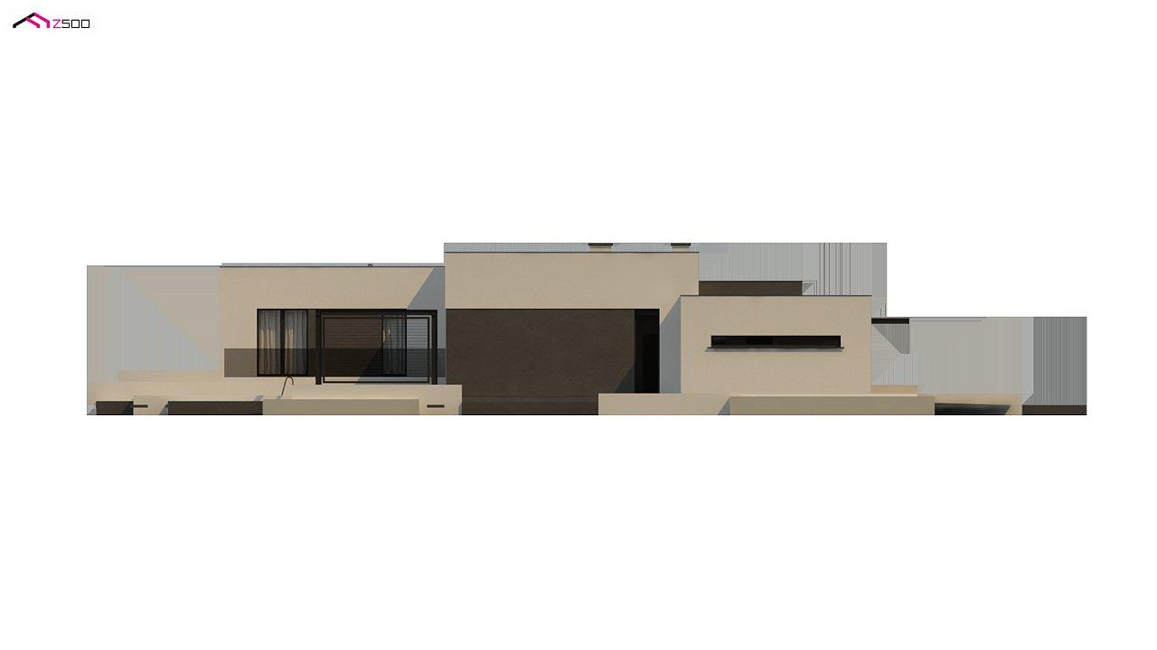 Проект современного одноэтажного дома с плоской кровлей. - фото 17