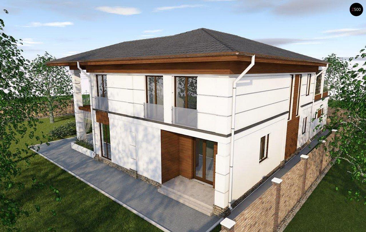Проект стильного и просторного дома с элементами классической архитектуры. - фото 5